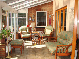 Conservatory at Wych Elm Bed &Breakfast in Danbury, Chelmsford, Essex